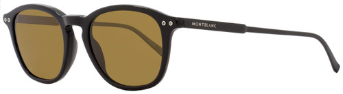 Montblanc Round Sunglasses MB599S 01M Black Polarized 599