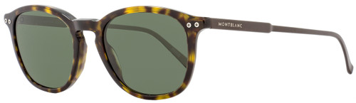 Montblanc Round Sunglasses MB599S 52R Havana/Dark Brown Polarized 599