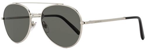 Montblanc Aviator Sunglasses MB605S 16D Palladium/Black Polarized 605