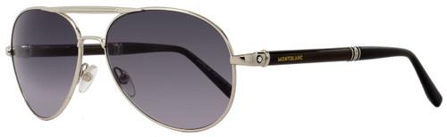 Montblanc Aviator Sunglasses MB458S 16B Palladium/Horn 458