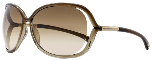 Tom Ford Butterfly Sunglasses TF76 Raquel 38F Transparent Bronze FT0076