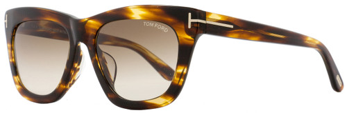 Tom Ford Rectangular Sunglasses TF361F Celina 50F Striped Brown FT0361F