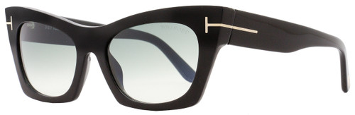 Tom Ford Cateye Sunglasses TF459 Kasia 05B Shiny/Matte Black FT0459