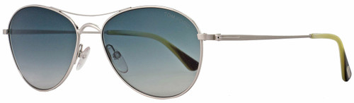 Tom Ford Oval Sunglasses TF495 Oliver 18W Rhodium/Horn FT0495