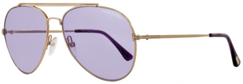 Tom Ford Aviator Sunglasses TF497 Indiana 28Y Gold/Violet FT0497