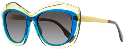 Fendi Butterfly Sunglasses FF0029S 7NTN6 Yellow/Peacock/Gold 29