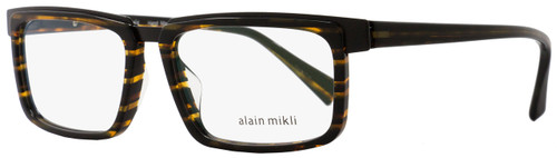 Alain Mikli Rectangular Eyeglasses A02016 2890 Size: 54mm Brown Striped/Black 2016