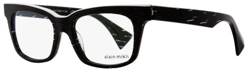 Alain Mikli Rectangular Eyeglasses A03021 C015 Size: 50mm Black Diamond/White 3021