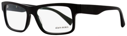 Alain Mikli Rectangular Eyeglasses A03046 1026 Size: 57mm Black Pearlescent 3046