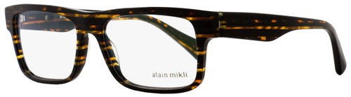 Alain Mikli Rectangular Eyeglasses A03046 2891 Size: 54mm Striped Brown 3046