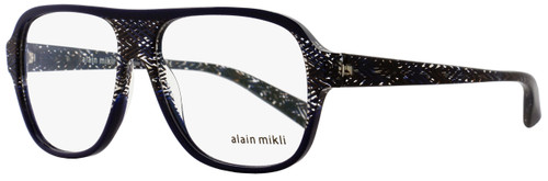 Alain Mikli Square Eyeglasses A03051 E016 Size: 56mm Blue/Brown Chevron 3051