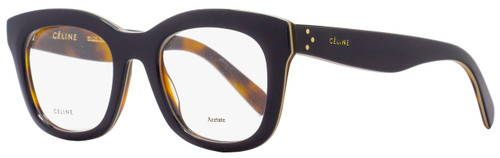Celine Square Eyeglasses CL41378 273 Size: 48mm Dark Navy/Havana 41378