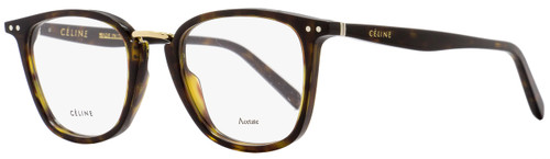 Celine Square Eyeglasses CL41419 086 Size: 47mm Dark Havana/Gold 41419