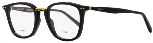 Celine Square Eyeglasses CL41419 807 Size: 47mm Black/Gold 41419