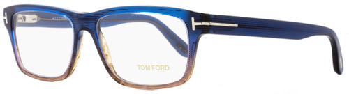 Tom Ford Rectangular Eyeglasses TF5320 092 Size: 56mm Brown Shaded Blue FT5320