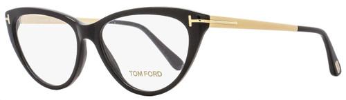 Tom Ford Cateye Eyeglasses TF5354  001 Size: 53mm Black/Gold FT5354