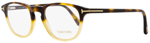 Tom Ford Oval Eyeglasses TF5389 053 Size: 48mm Honey Shaded Havana FT5389