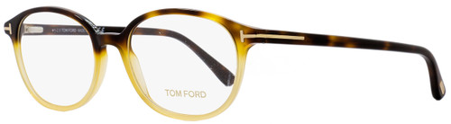 Tom Ford Oval Eyeglasses TF5391 053 Size: 52mm Honey Shaded Havana FT5391