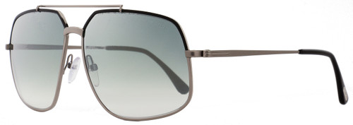 Tom Ford Aviator Sunglasses TF439 Ronnie 01Q Gunmetal/Black FT0439