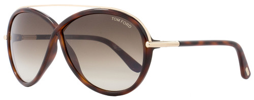 Tom Ford Butterfly Sunglasses TF454 Tamara 52K Havana/Gold FT0454