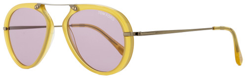 Tom Ford Oval Sunglasses TF473 Aaron 39Y Opal Honey/Antique Bronze FT0473