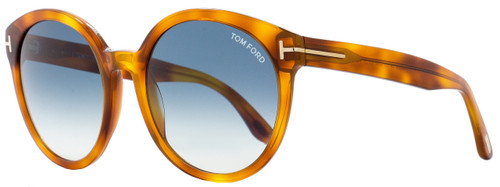 Tom Ford Oval Sunglasses TF503 Philippa 53W Blonde Havana FT0503