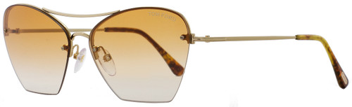 Tom Ford Cateye Sunglasses TF507 Annabel 28F Gold/Blonde Havana FT0507