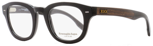 Ermengildo Zegna Couture Oval Eyeglasses ZC5005 001 Size: 47mm Black/Ebony/Horn 5005