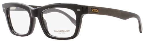 Ermengildo Zegna Couture Rectangular Eyeglasses ZC5006 001 Size: 53mm Black/Ebony/Horn 5006