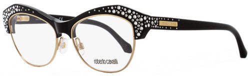 Roberto Cavalli Butterfly Eyeglasses RC930 Phecda 001 Size: 53mm Black/Gold 930