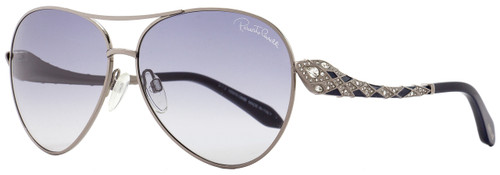 Roberto Cavalli Aviator Sunglasses RC920S-A Muphird 12B Ruthenium/Dark Blue 920