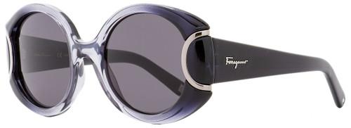 Salvatore Ferragamo Round Sunglasses SF811S 013 Black/Gray Gradient 811