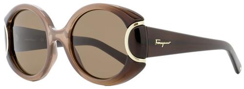 Salvatore Ferragamo Round Sunglasses SF811S 212 Brown Gradient 811