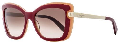 Salvatore Ferragamo Butterfly Sunglasses SF814S 631 Red Coral/Gold 814
