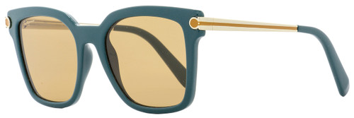 Salvatore Ferragamo Square Sunglasses SF832S 321 Petrol/Gold 832