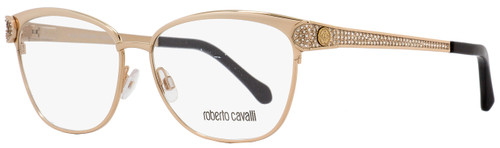 Roberto Cavalli Oval Eyeglasses RC945 Rigel A28 Size: 55mm Rose Gold/Black 945