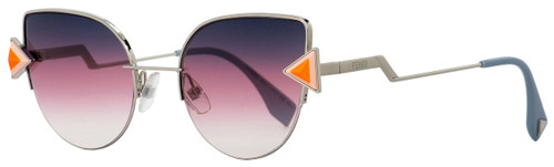 Fendi Cateye Sunglasses FF0242S TJVFF Pink Silver/Powder Blue 52mm 242