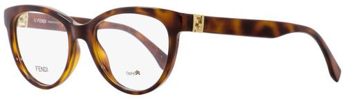 Fendi Oval Eyeglasses FF0008 8NH Havana 52mm 008