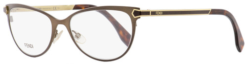 Fendi Oval Eyeglasses FF0024 7WG Brown/Gold/Havana 53mm 024