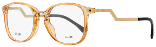 65d893d216 Fendi Oval Eyeglasses FF0038 SLI Transparent Peach Gold Black 50mm 038