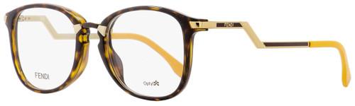 Fendi Oval Eyeglasses FF0038 ZCZ Havana/Gold/Mustard 50mm 038