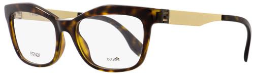 Fendi Rectangular Eyeglasses FF0050 PGM Havana/Gold 53mm 050