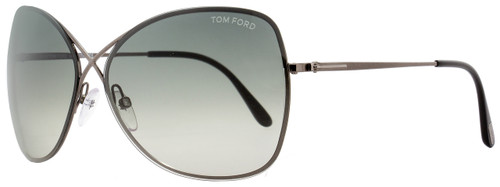 Tom Ford Butterfly Sunglasses TF250 Colette 08C Gunmetal/Black 63mm FT0250