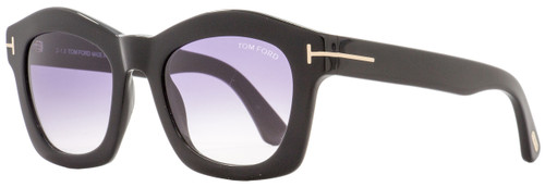 Tom Ford Oval Sunglasses TF431 Greta 01Z Black/Gold 50mm FT0431