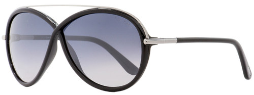 Tom Ford Butterfly Sunglasses TF454 Tamara 01C Black/Ruthenium 64mm FT0454