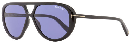 Tom Ford Oval Sunglasses TF510 Marley 01V Black/Gold 59mm FT0510