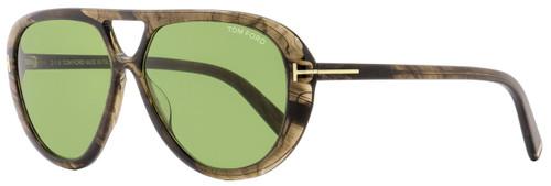 Tom Ford Oval Sunglasses TF510 Marley 20N Gray Melange 59mm FT0510