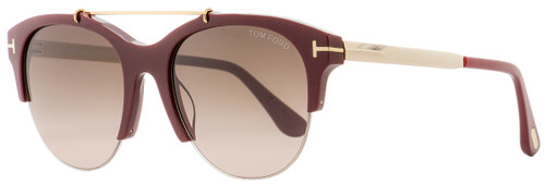 Tom Ford Oval Sunglasses TF517 Adrenne  69T Burgundy/Gold 55mm FT0517