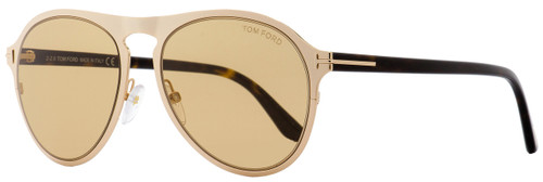 Tom Ford Aviator Sunglasses TF525 Bradburry 28E Gold/Havana 56mm FT0525