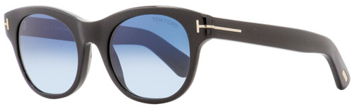 Tom Ford Rectangular Sunglasses TF532 Ally 01W Shiny Black/Gold 51mm FT0532